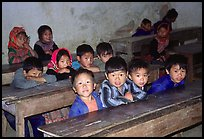 In the classroom. Bac Ha, Vietnam