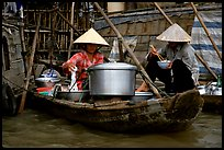 Boat-based food vendors. Can Tho, Vietnam ( color)